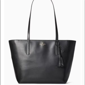 Kate Spade Emilia Large Tote Black Leather